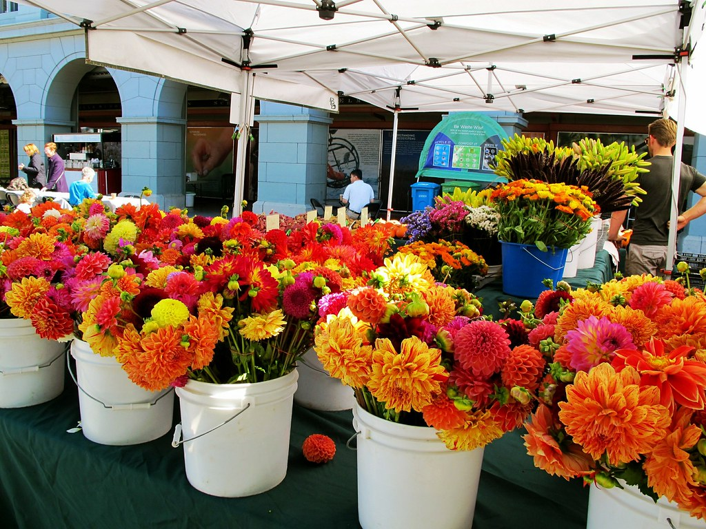 farmer s market flowers Ferry building market San Francis…