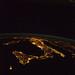 Italy at Night (NASA, International Space Station, 08/18/12)