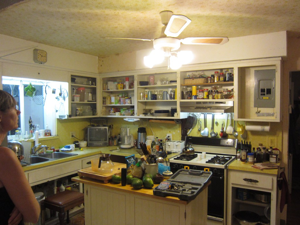 Messy old cluttered kitchen cabinet doors removed flickr for A z kitchen cabinets ltd calgary