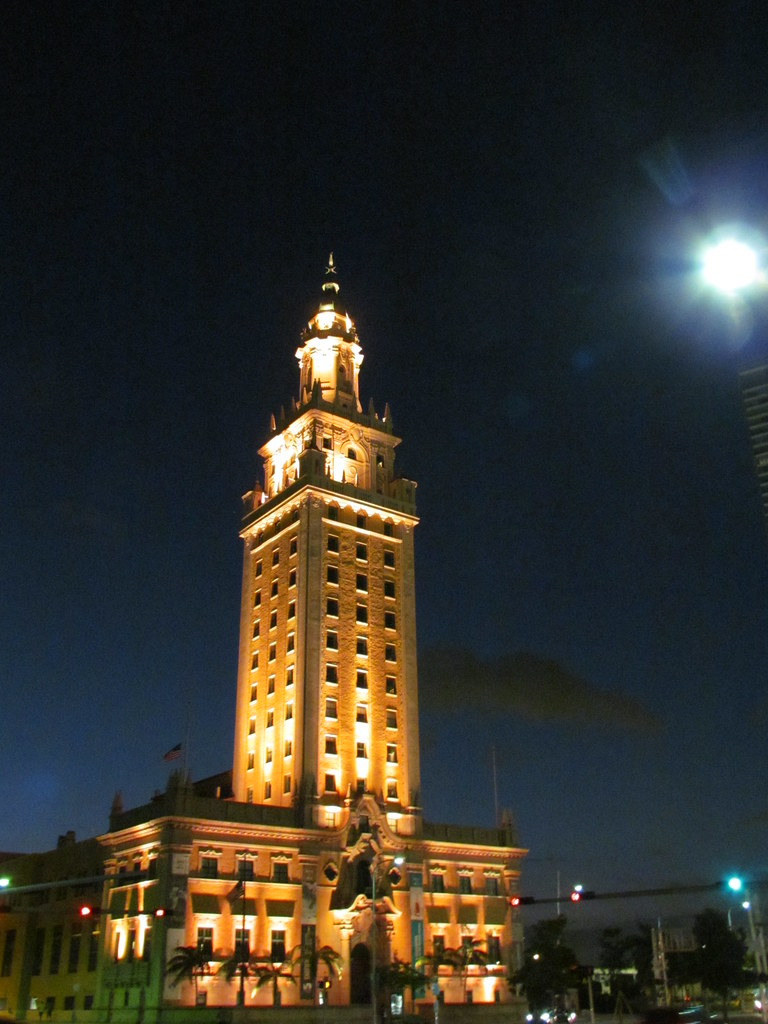 the freedom tower at night miami fl september 2 2012