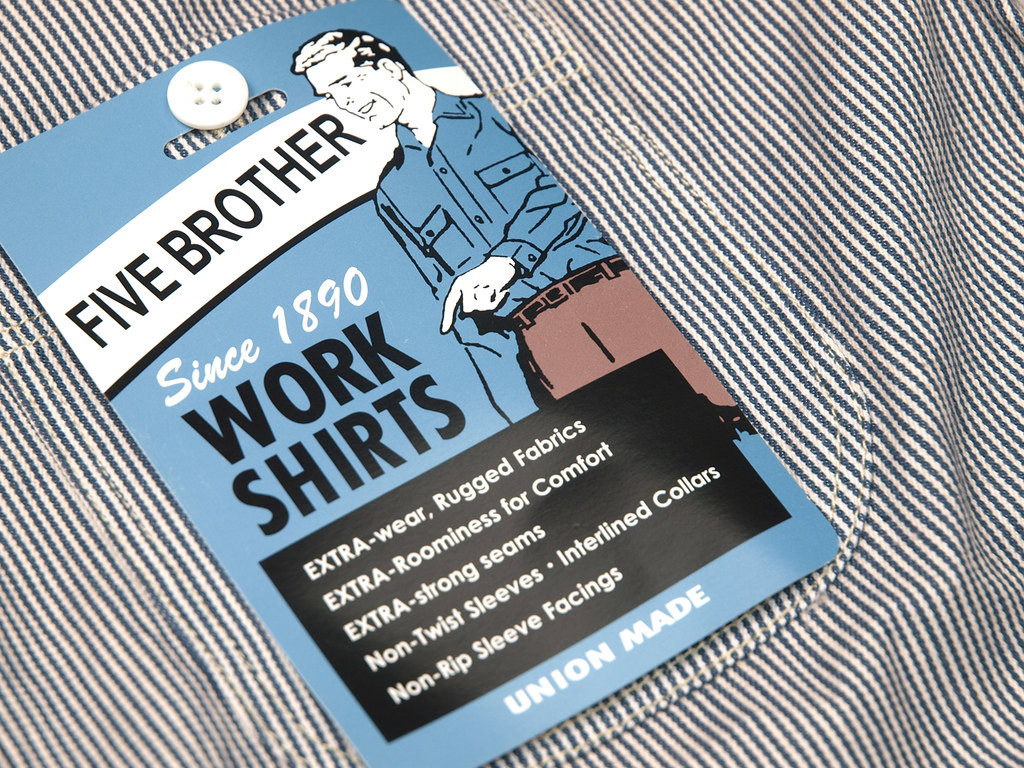 Five Brother Hickory Stripe L S Work Shirt Related