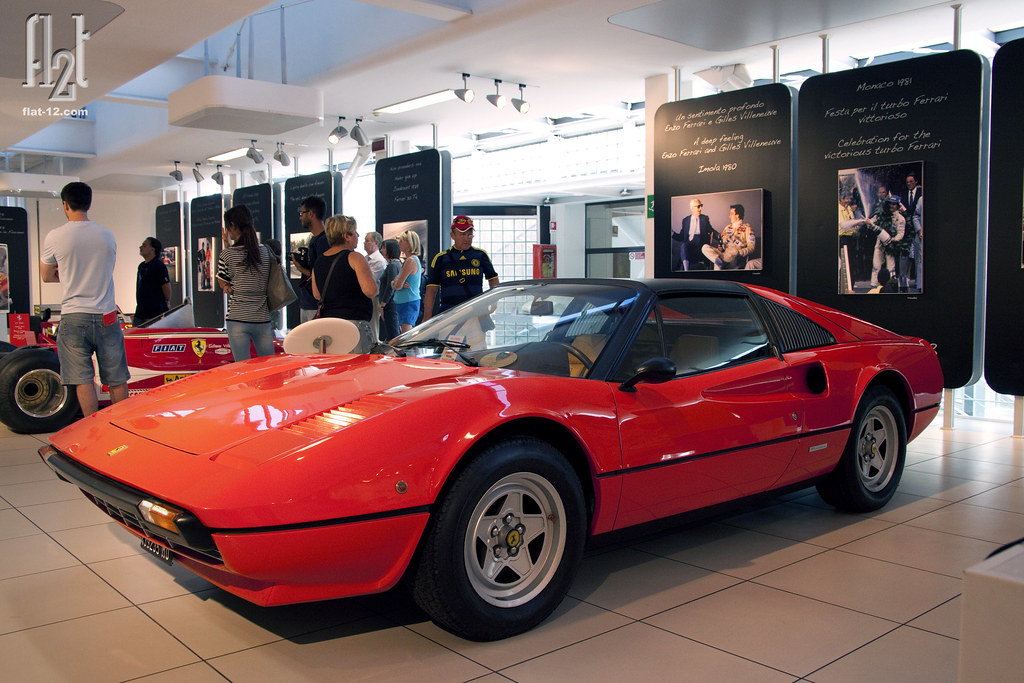 Gilles Villeneuve Ferrari 308 Gts Exhibition Placard