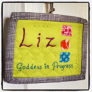 My finished name tag! Now you have to find me and say hi at #sewingsummit. | by goddessinprogress