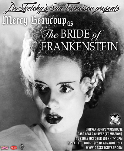 Dr Sketchy's presents Bride of Frankenstein | by Alice Stribling