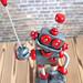 Grey Geoff Robot Wire Photo Holder
