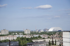 Reactor from roof of residential building
