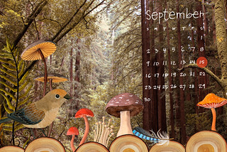 September Desktop Calendar | by Geninne