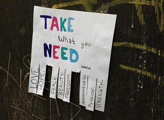Take what you need | by @markheybo