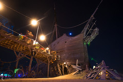 The Pier and sunken pirate ship at Burning Man 2012