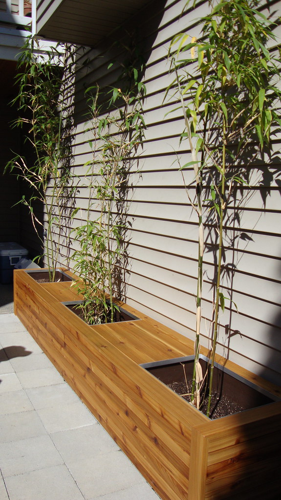Cedar Planter Box And Bench Seating Www