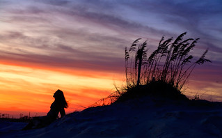 Sunset on the dunes | by pjp1980