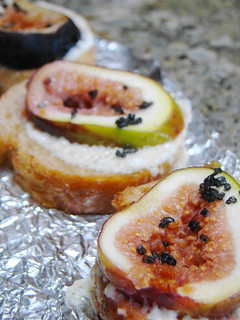 Fig Bruschetta with Soy Feta & Black Salt | by Vegan Feast Catering