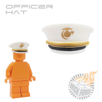 Officer Hat - White w/ USMC | by BrickForge