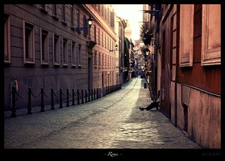 Postcards from Rome - Shady Street | by Christian Hein Photo