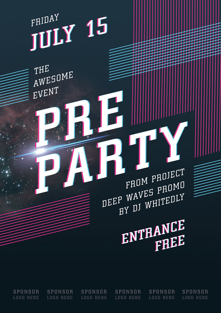 Event Poster Template | «Pre-Party» — This poster was design… | Flickr