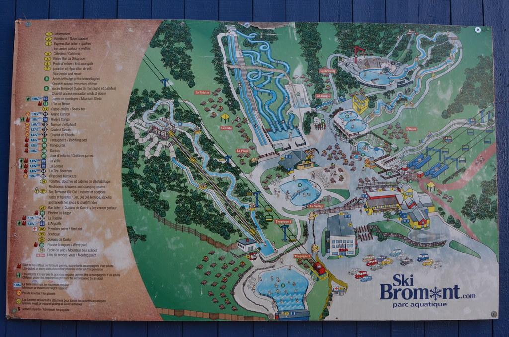 La Carte Du Parc Aquatique Ski Bromont. | Sandbanks Pro ...