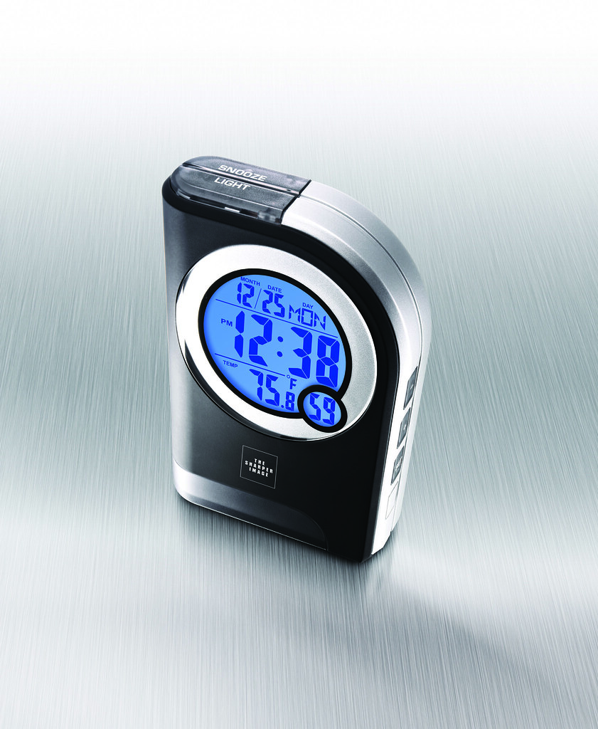 The Sharper Image Travel Alarm Clock With Light Et004 Flickr