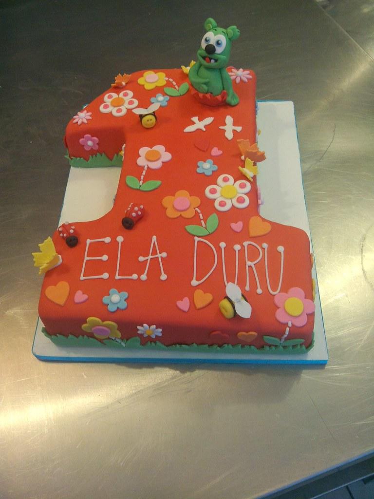 Colorful 1st Birthday Cake Gummy Bears Colorful Birthday C Flickr
