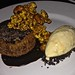 warm chocolate fondant at Baker and Banker in San Francisco