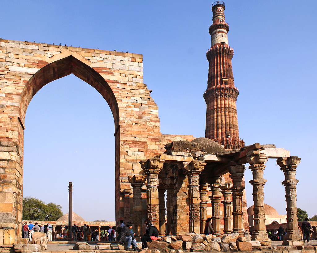 Qutub Minar And Iron Pillar Delhi Qutub Minar Also Qutb