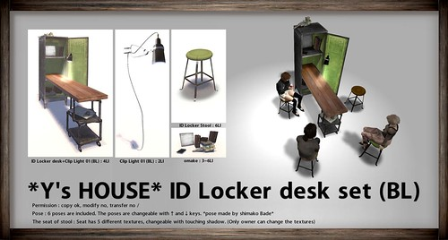 *Y's HOUSE* ID Locker desk set (BL)_for THE MENS DEPT | by yacchan Clip | *Y's HOUSE*