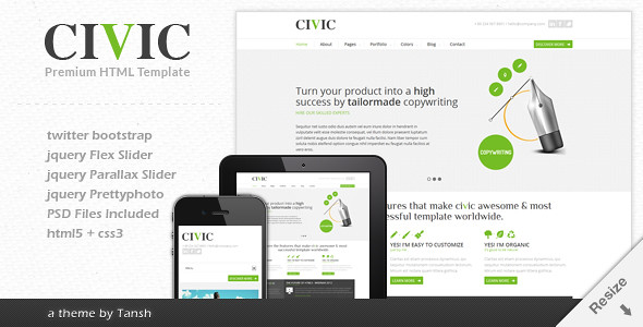 Civic Responsive Business HTML Template | Civic is responsiv… | Flickr