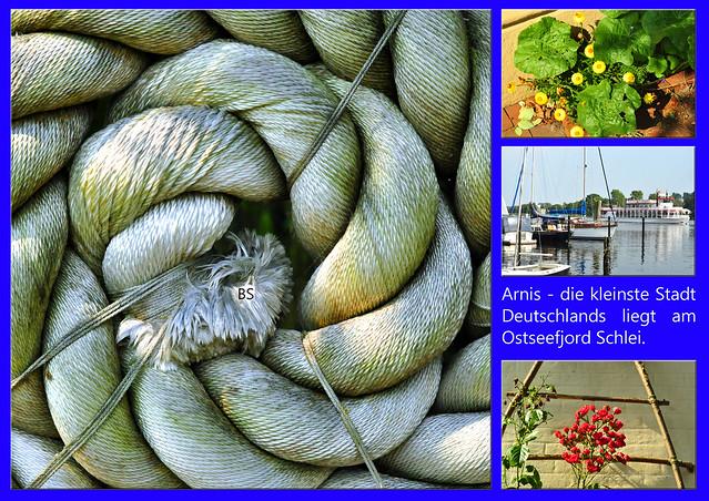 Arnis ... Ostseefjord Schlei ... kleinste Stadt Deutschlands ... Fotos und Collagen: Brigitte Stolle 2016