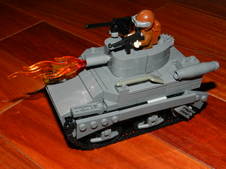 WWII LEGO M3A1 Satan Flamethrower Stuart/Honey | by LegoIiner PiIot