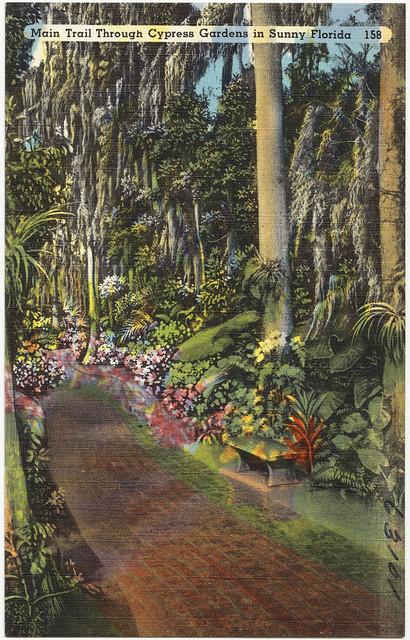 Main Trail Through Cypress Gardens In Sunny Florida