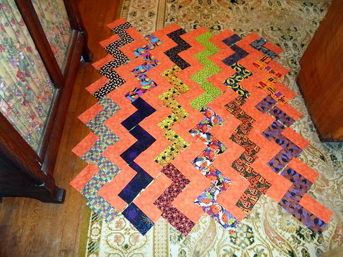 Halloween Zig Zag 3 | by Linda Rotz Miller Quilts & Quilt Tops