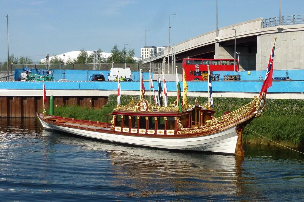Gloriana Royal Barge at Olympic Park   en wikipedia org/wiki