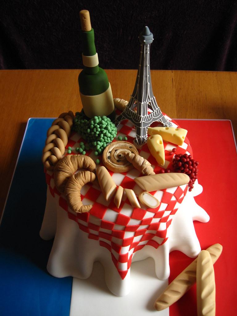 French Themed Birthday Cake Lyndsey Neill Flickr