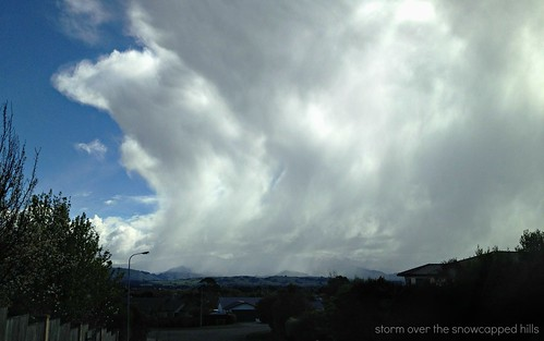 storm over the snowcapped hills | by Brenda Anderson