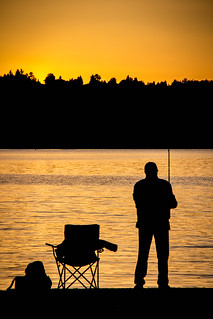 The Old Fisherman at Sunset | by Jason Gallant.