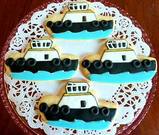 Tug Boat Cookies | by kelleyhart