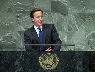 UK Prime Minister David Cameron addressing the UN General Assembly | by UK UN, New York