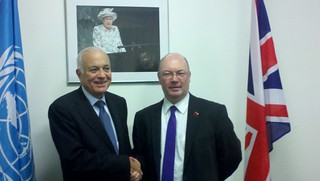 UK Minister Burt meets with Arab League Secretary-General al Araiby, at the UN General Assembly | by UKUnitedNations
