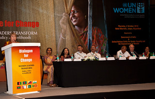 UN Women Executive Director Michelle Bachelet addresses the National Leadership Summit in Jaipur, India on 4 October 2012 | by UN Women Gallery