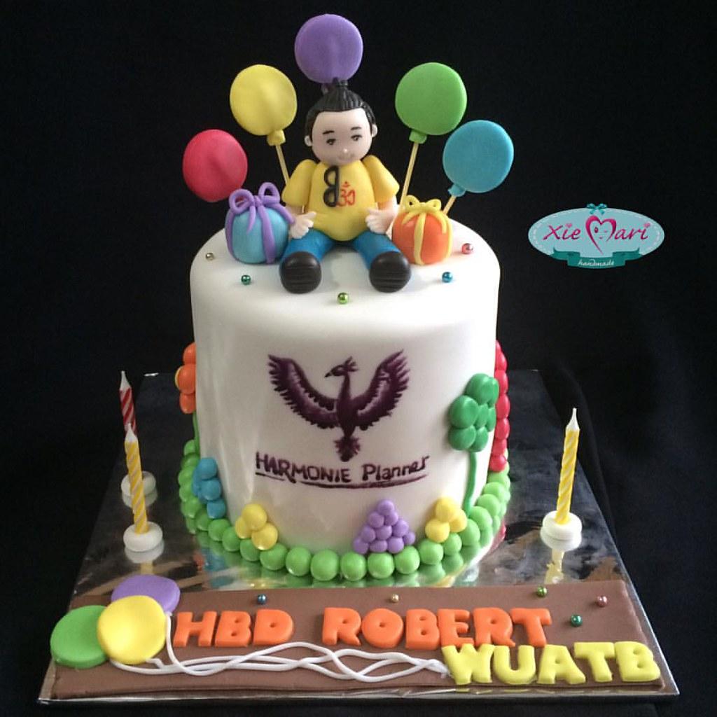 A multi talented man cake kue balloon harmonieplanner Flickr
