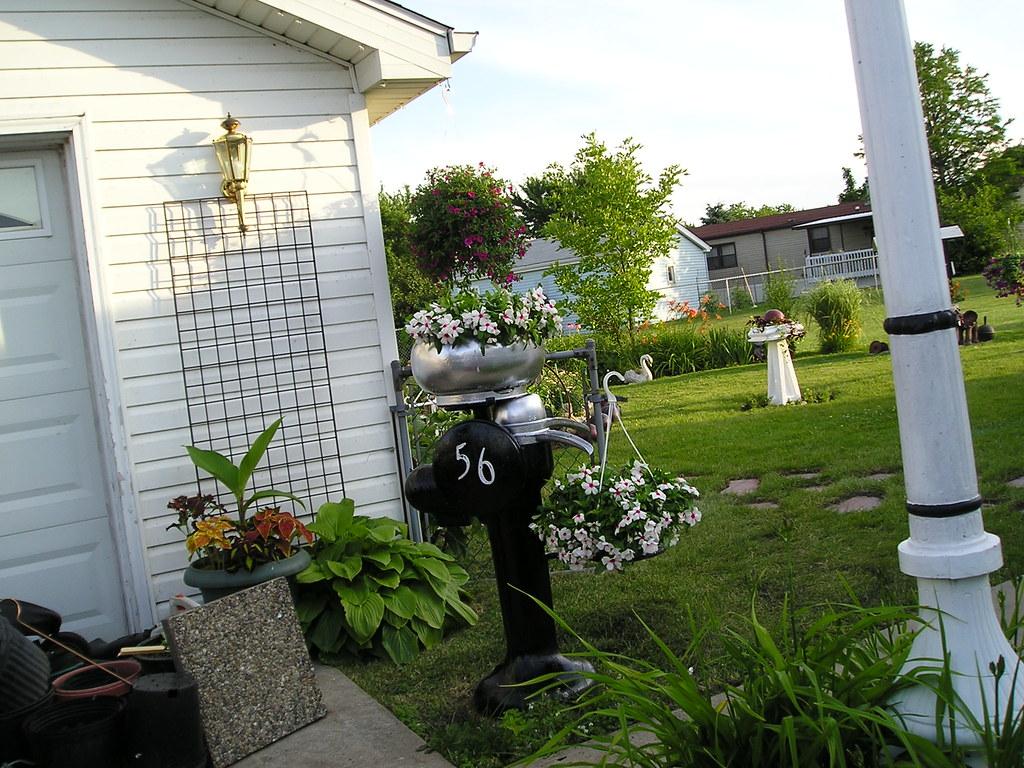 Garden antique cream separator planter next season i for Garden separator