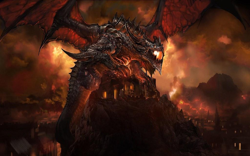 World of warcrafts diablo iii arts world of warcrafts flickr - Dragon backgrounds ...