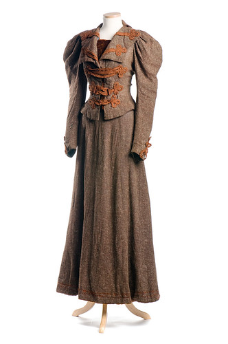 Woman's two-piece brown wool tweed dress, c. 1895 | by Charleston Museum