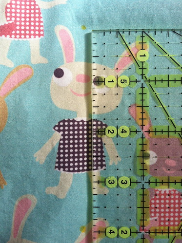 Using the quilting ruler to mark the next row of dots | by Spoonflower Fabrics