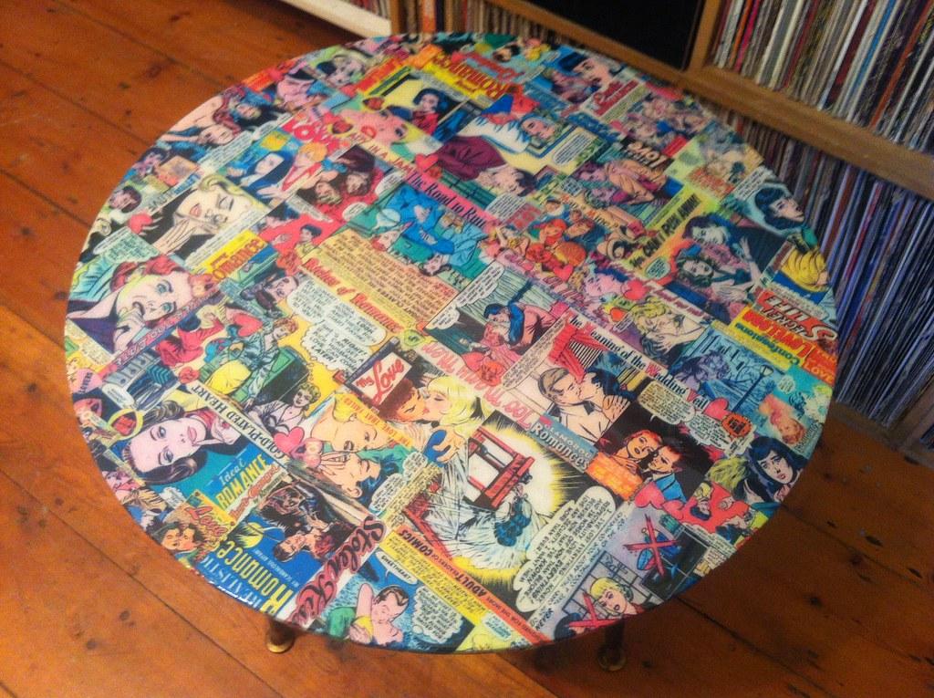 Decoupage Furniture Romance Comics Table 11 Martin And Carol Flickr