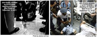 Two Images of Journalist John Knefel Being Arrested | by jcstearns