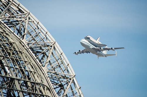Endeavour Flyover at Hangar One | by Dawn Endico