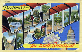 Greetings from West Virginia, The State Beautiful - Large Letter Postcard | by Shook Photos