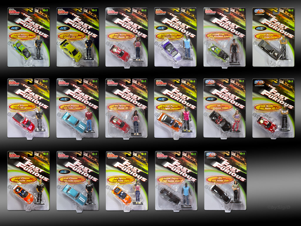 1 64 Fast And Furious Collection With Figures 1 64 Fast