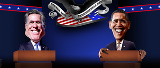 Barack Obama vs Mitt Romney in Denver Presidential Debate | by DonkeyHotey