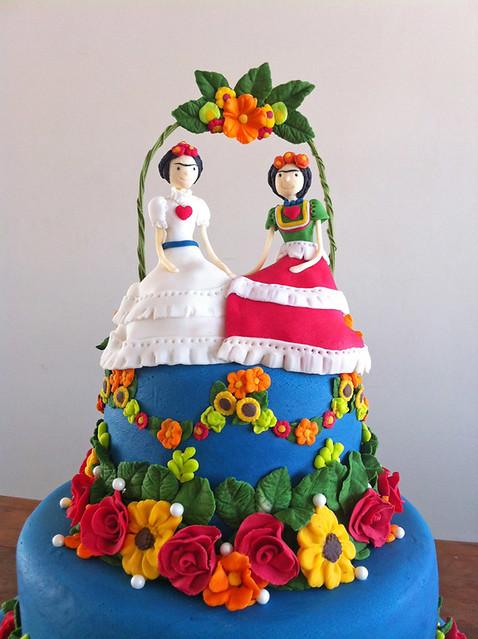 Cake Artista : Bolo para casamento gay inspirado na artista Frida Khalo ...